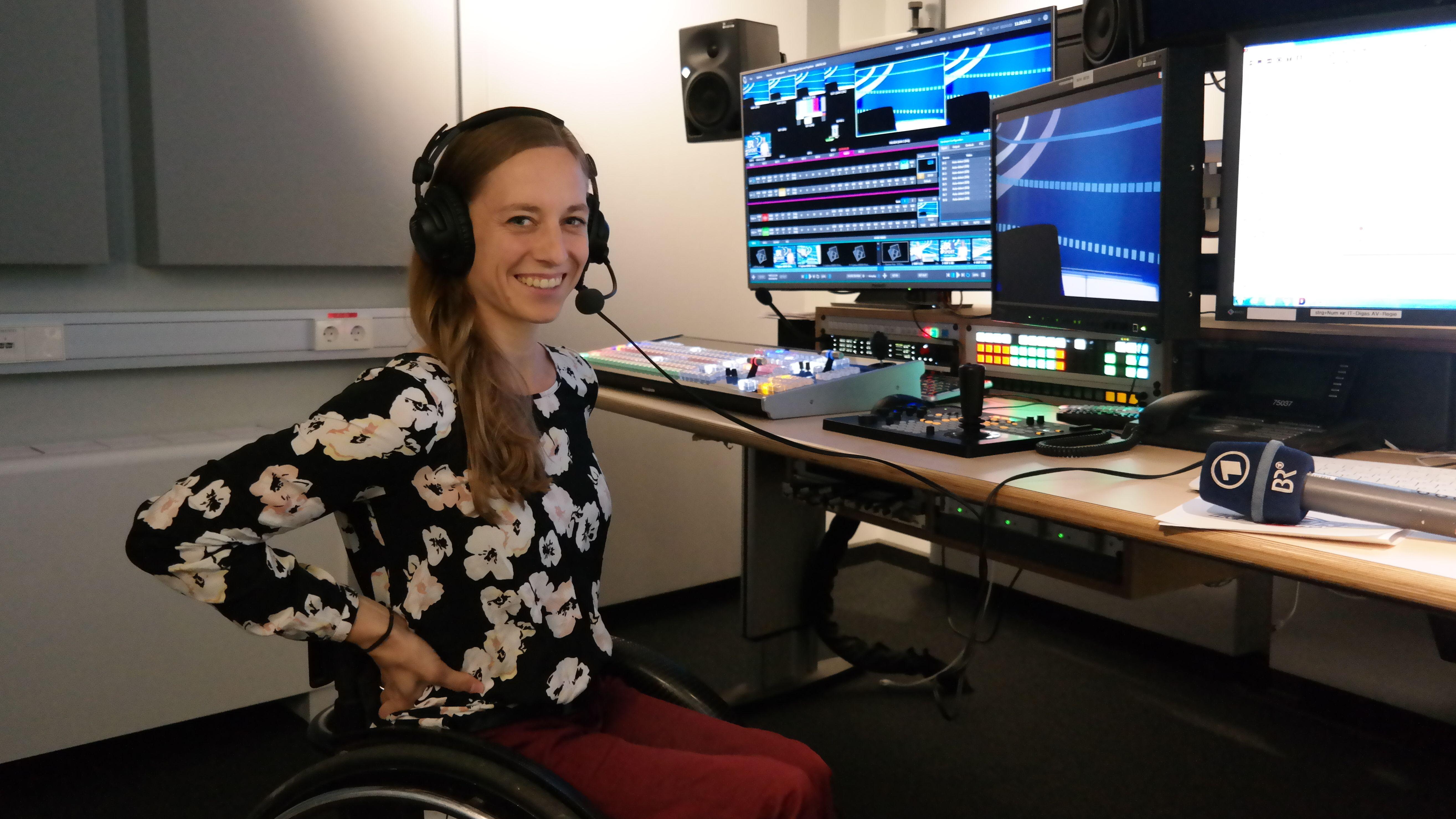 Anna Schaffelhuber im BR-Studio