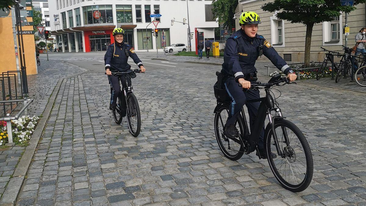 Die neue Fahrradstreife der Polizei in Straubing