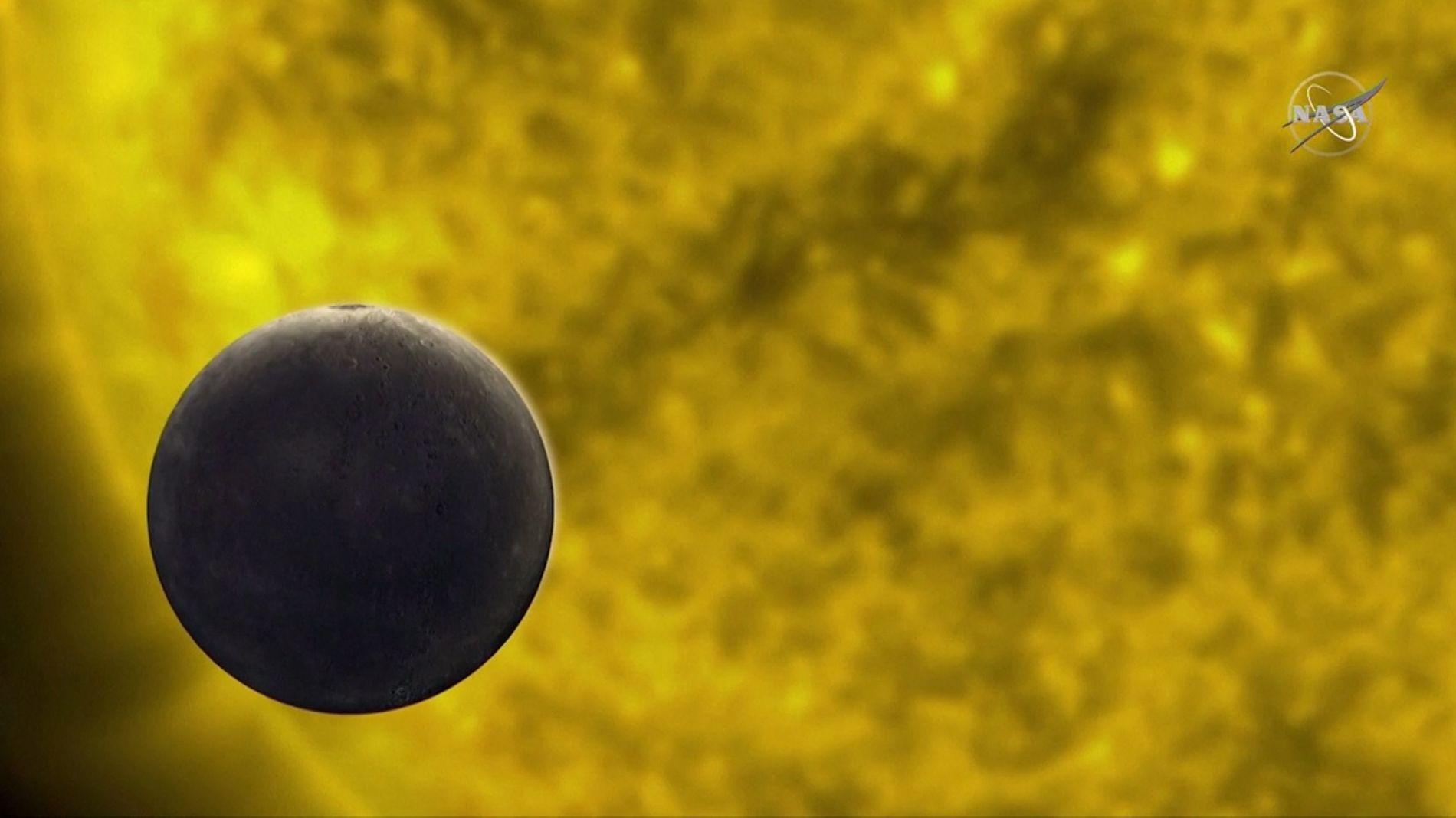 Merkur zog vor der Sonne vorbei
