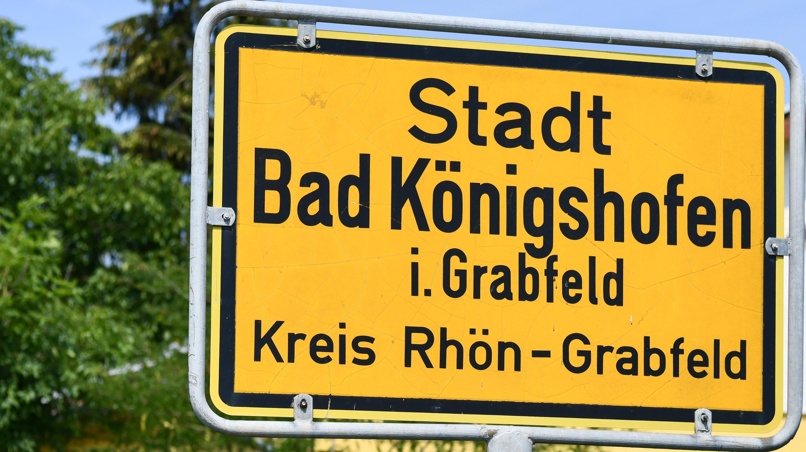 Ortsschild von Bad Königshofen