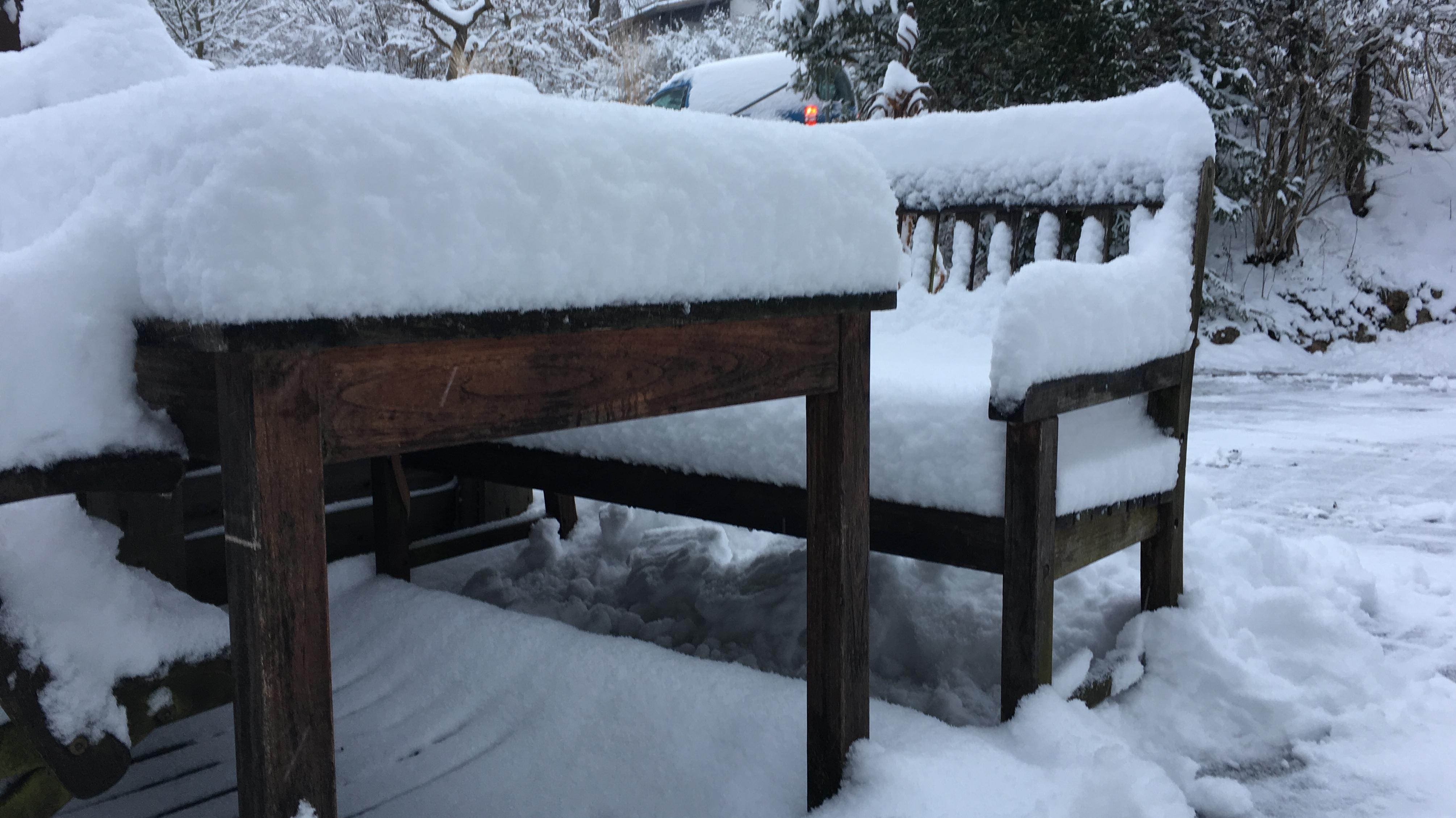 Schnee in Pfaffenhofen.