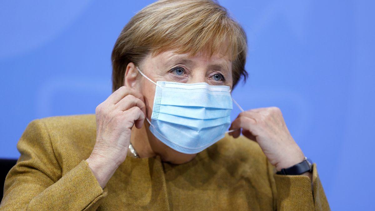 Kanzlerin Merkel nach dem Corona-Gipfel