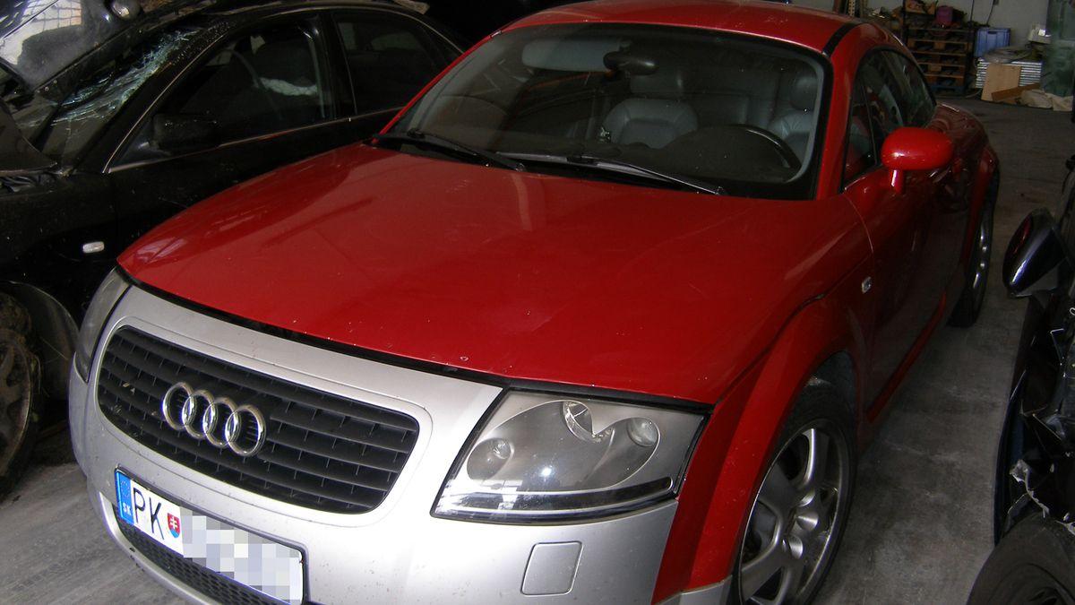Der sichergestellte Audi TT
