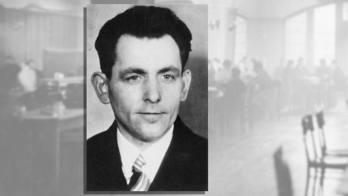 Schwarz-weiß-Portrait Georg Elser