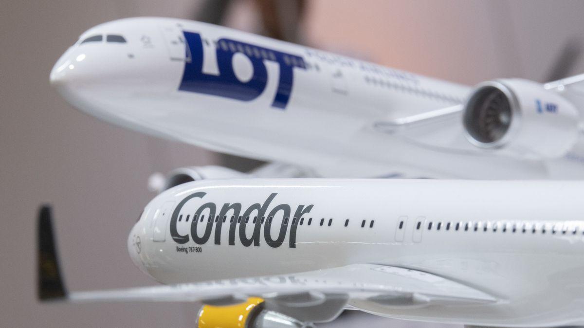 Modellflugzeuge von LOT und Condor