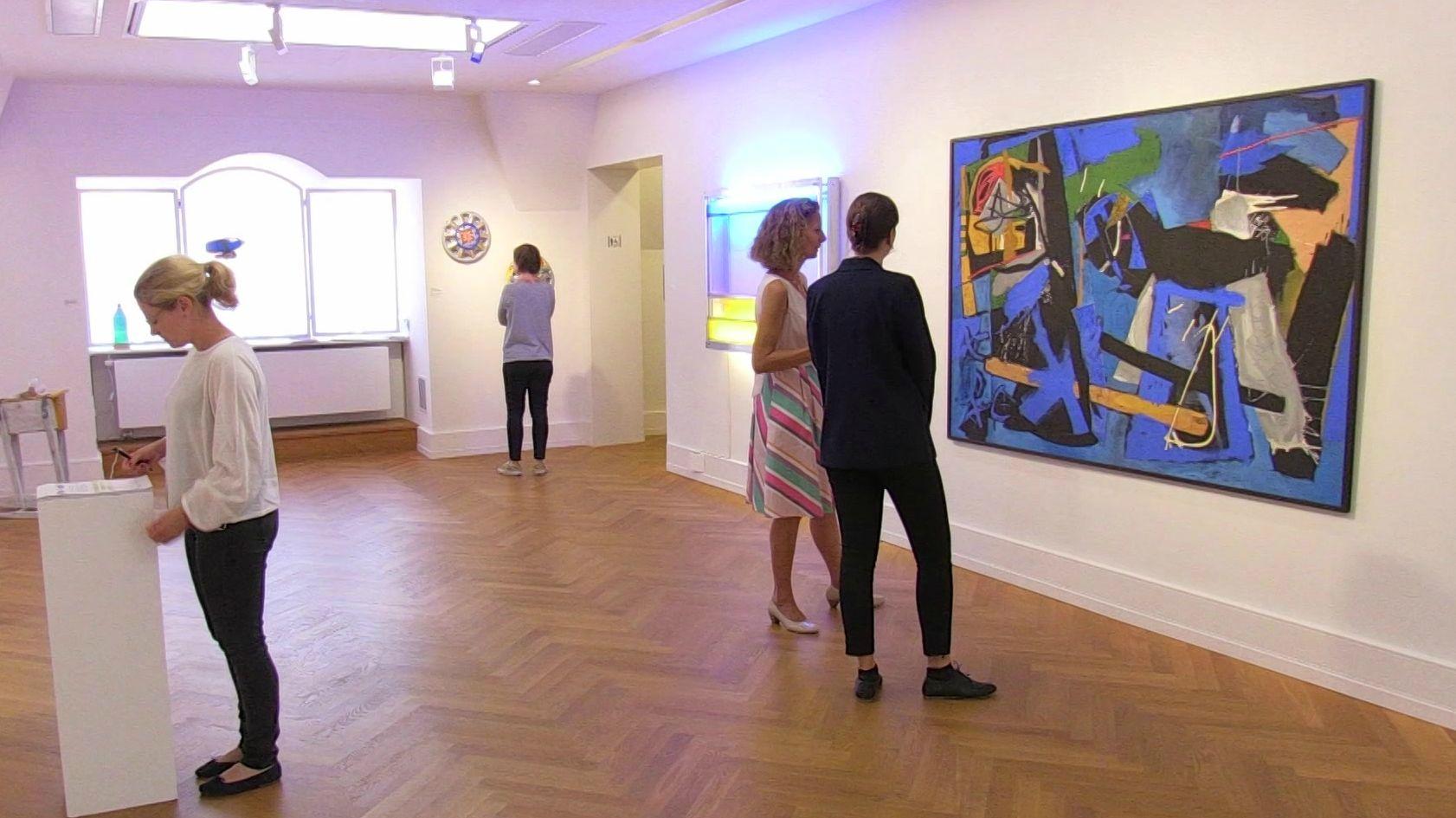 Ausstellungsraum in der Nürnberger Kunstvilla