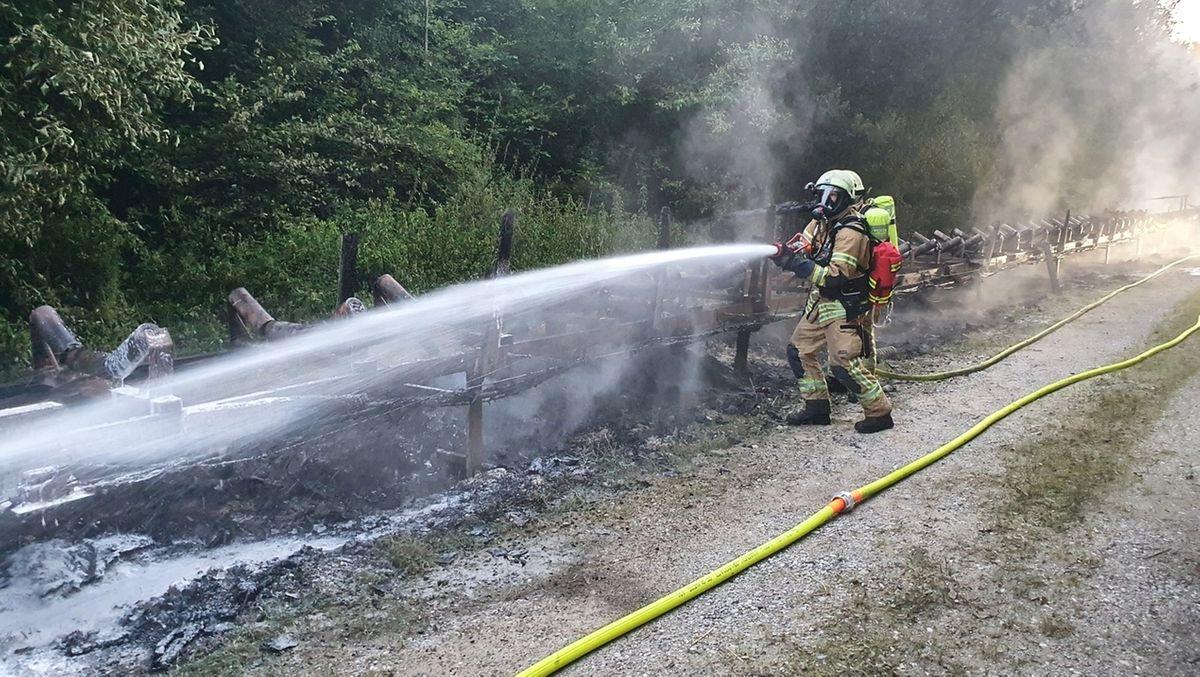 Hoher Schaden bei Feuer in Kieswerk.