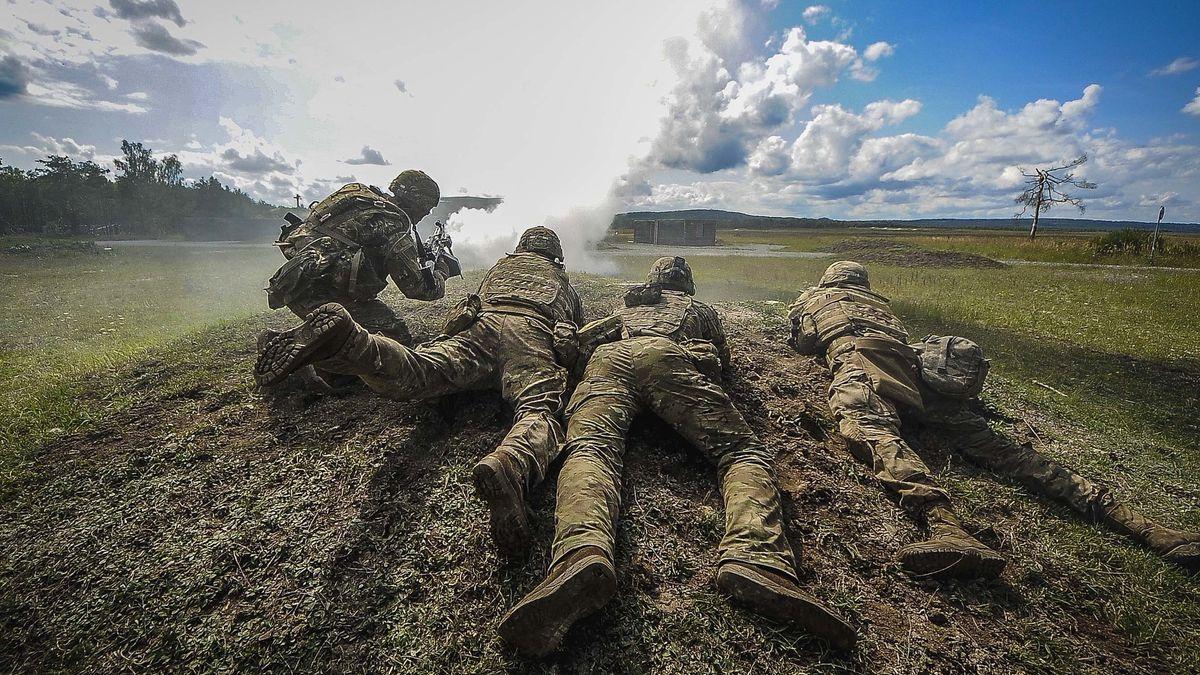 US-Soldaten beim Training in Grafenwöhr. Der Truppenübungsplatz ist der größte Standort der US-Armee in Europa.