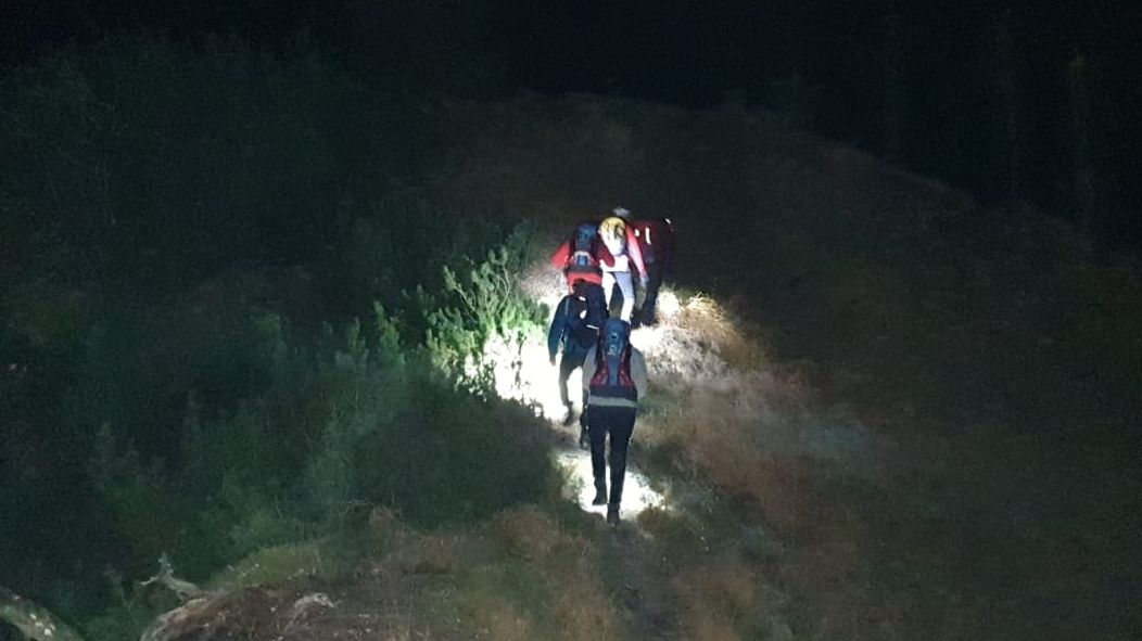 Suche nach dem Vermissten Bergwanderer