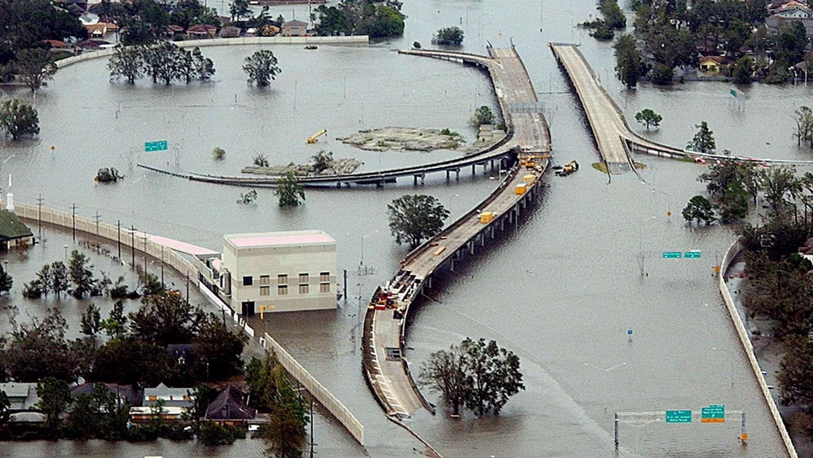 New Orleans im August 2005 nach Hurrikan Katrina
