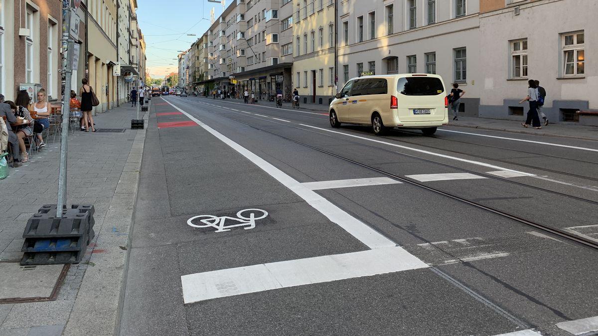 Neuer Radweg in München