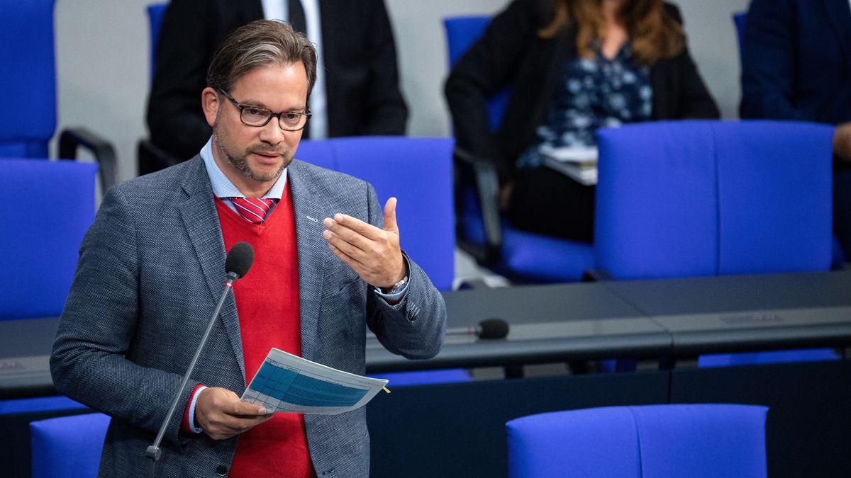 Der niederbayerische SPD Politiker Florian Pronold im Bundestag