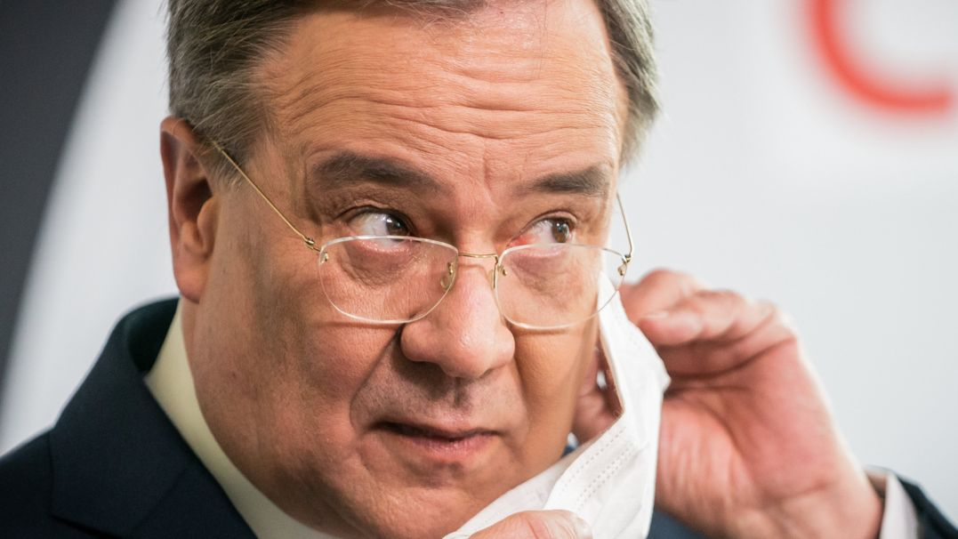 Armin Laschet nach einer CDU-Präsidiumssitzung Ende März.