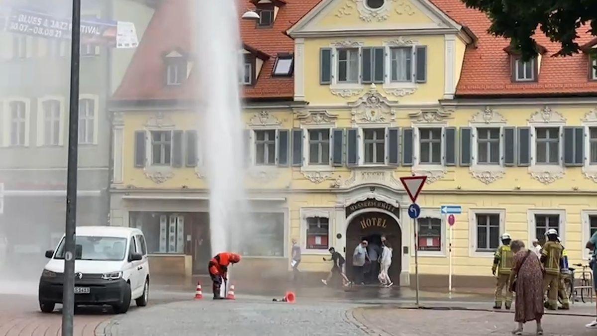 Wasserfontäne in Bamberg