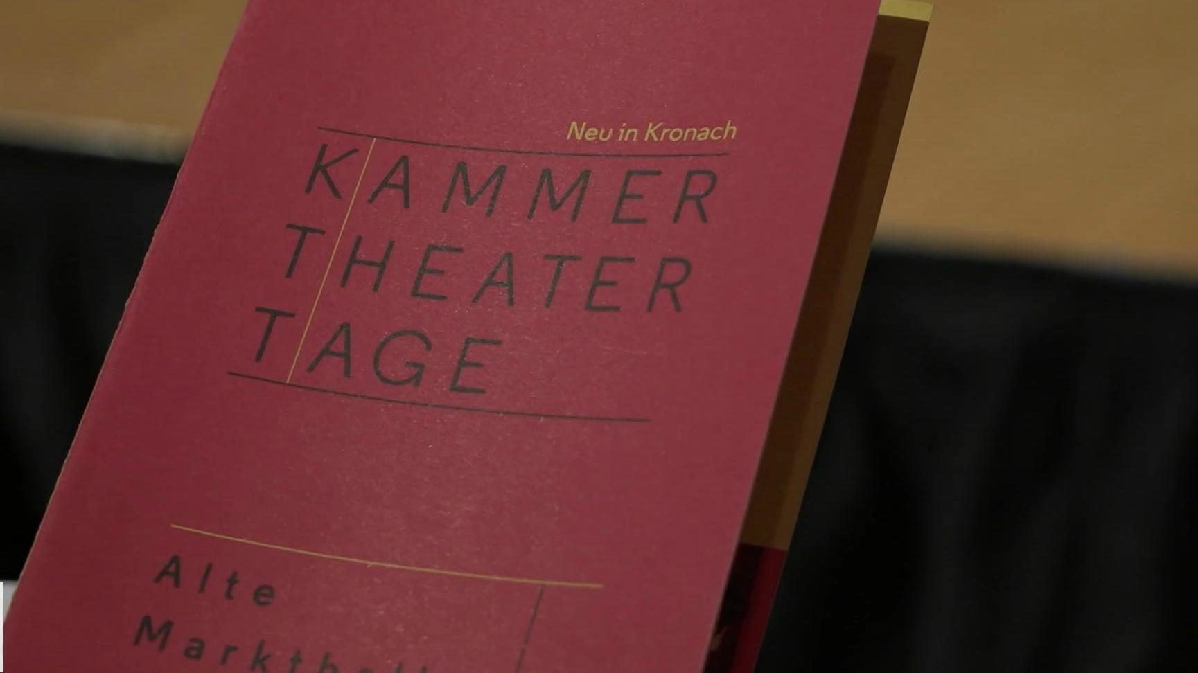 """Roter Flyer zu den """"Kammer Theater Tagen"""" in Kronach"""