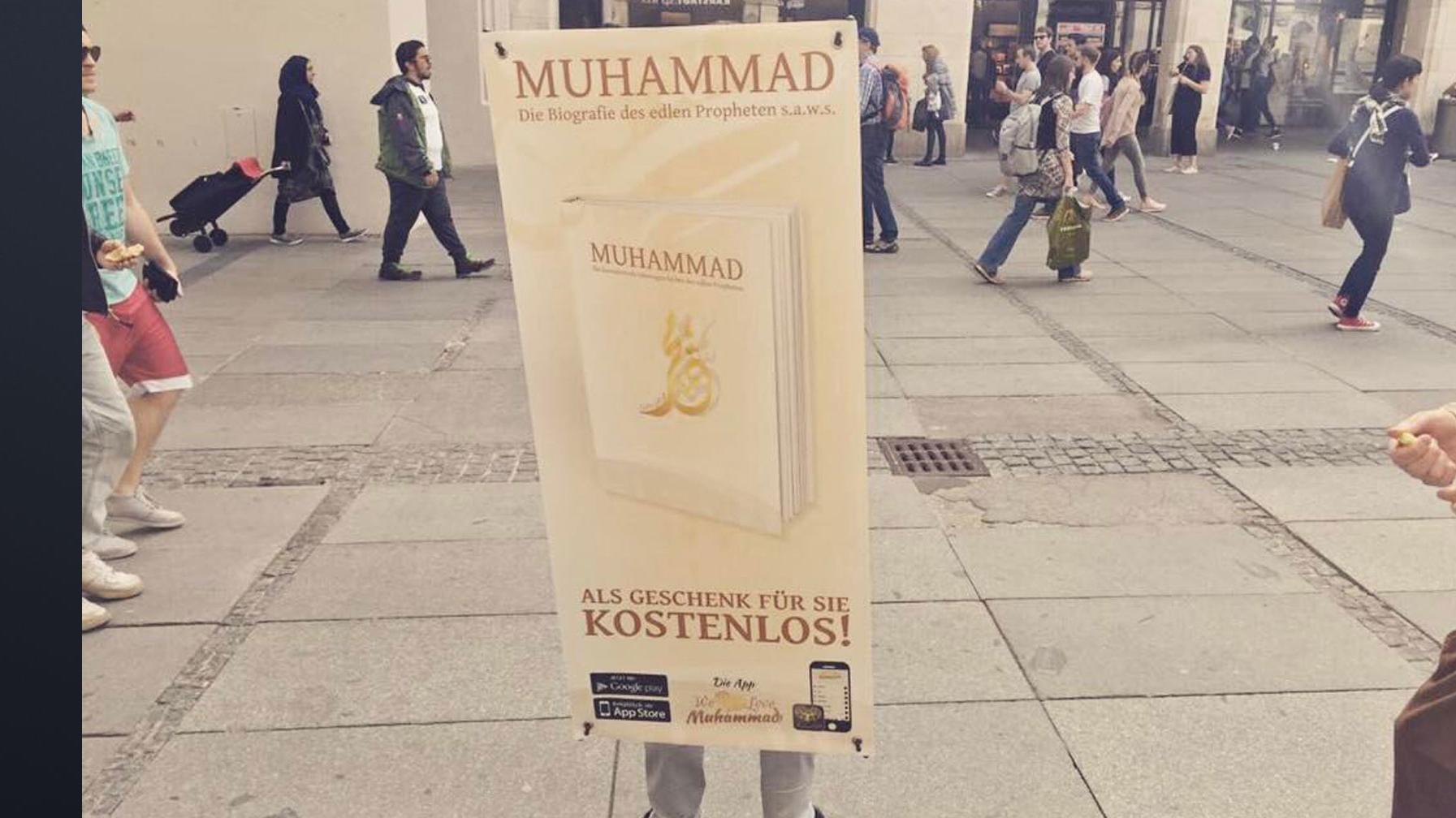"Salafisten bei der Koran-Aktion ""Lies!"""