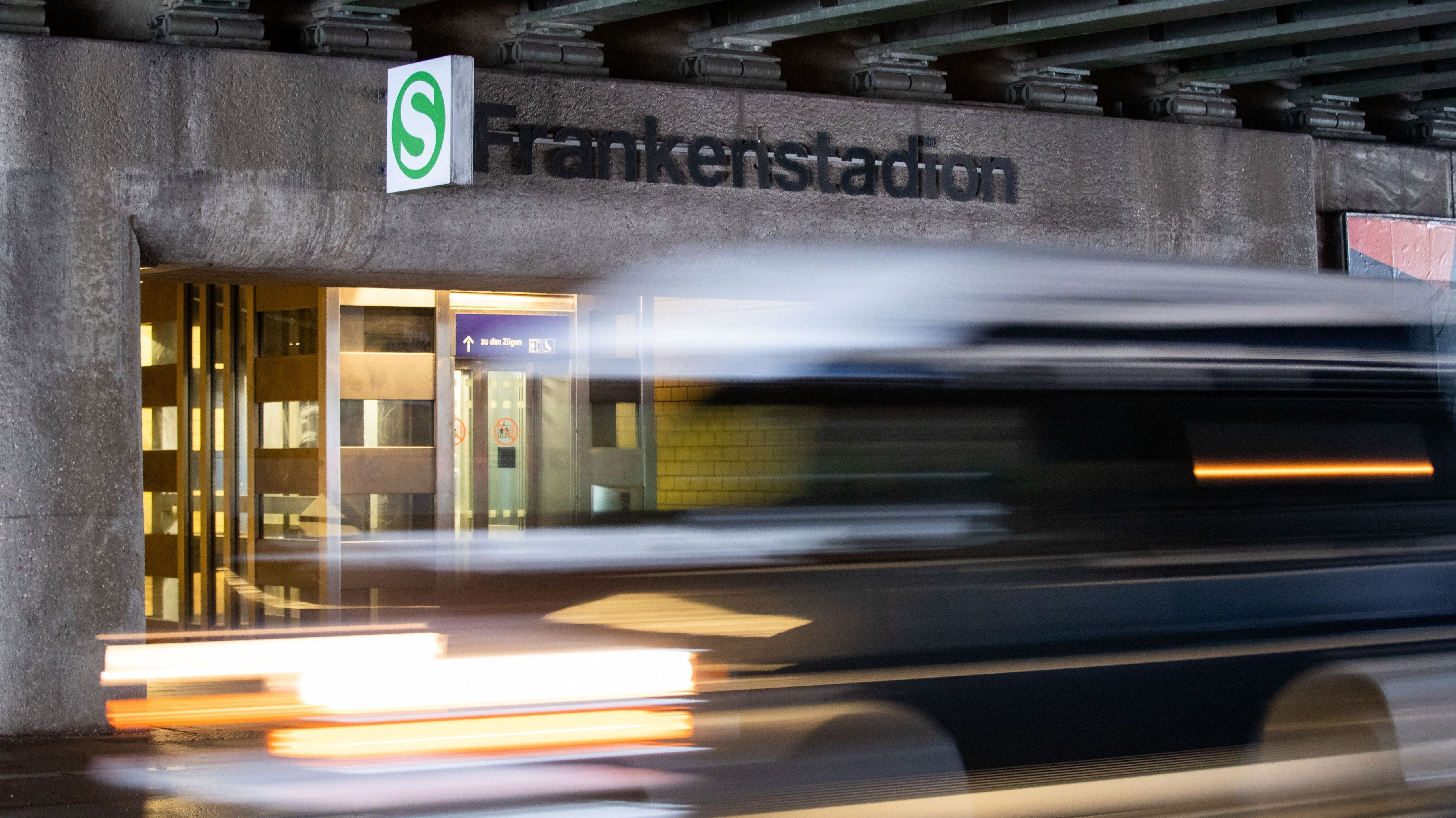 Die S-Bahn-Station Frankenstadion
