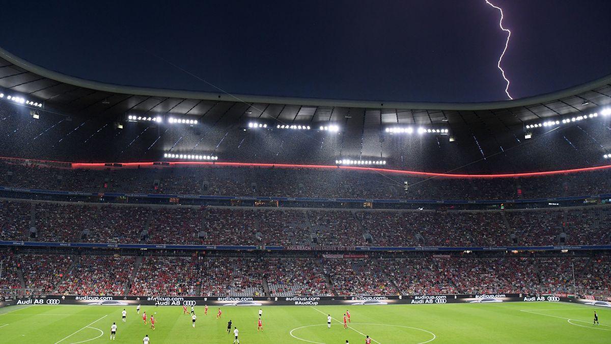 Unwetter in der Arena in München (Archivbild)
