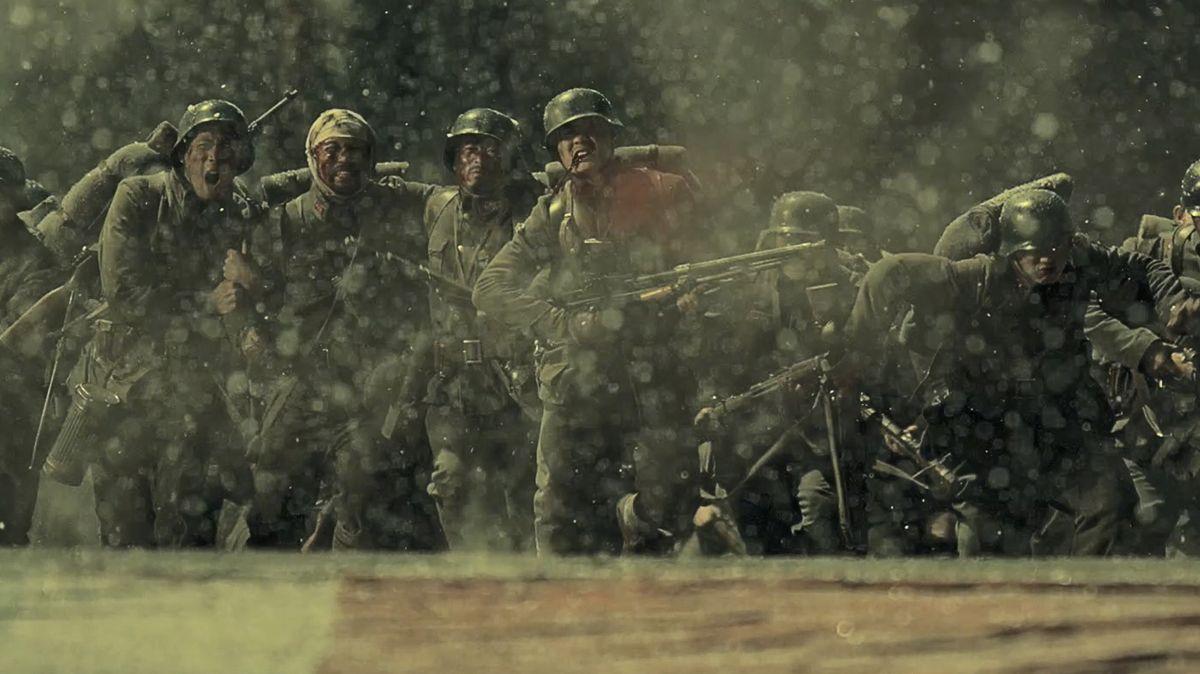 "Filmszene aus Guan Hus Kriegsdrama ""The 800"""