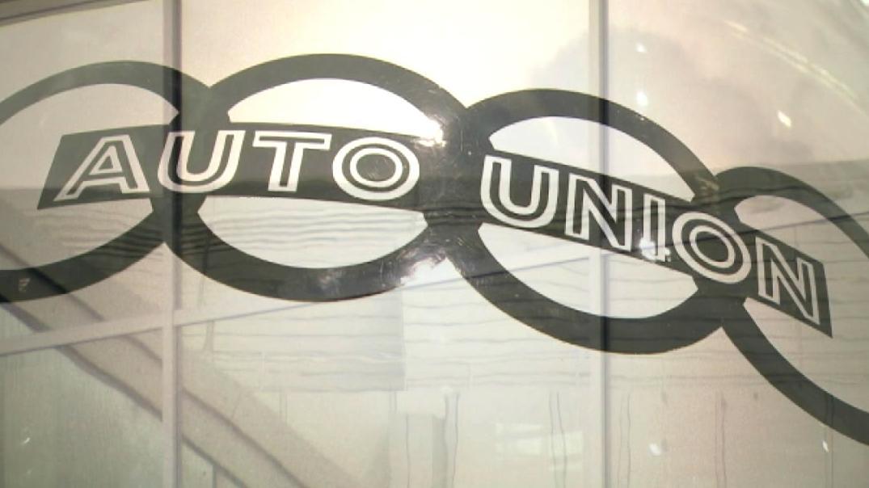 """Das Logo der """"Auto Union"""", Vorgängerunternehmen von Audi."""