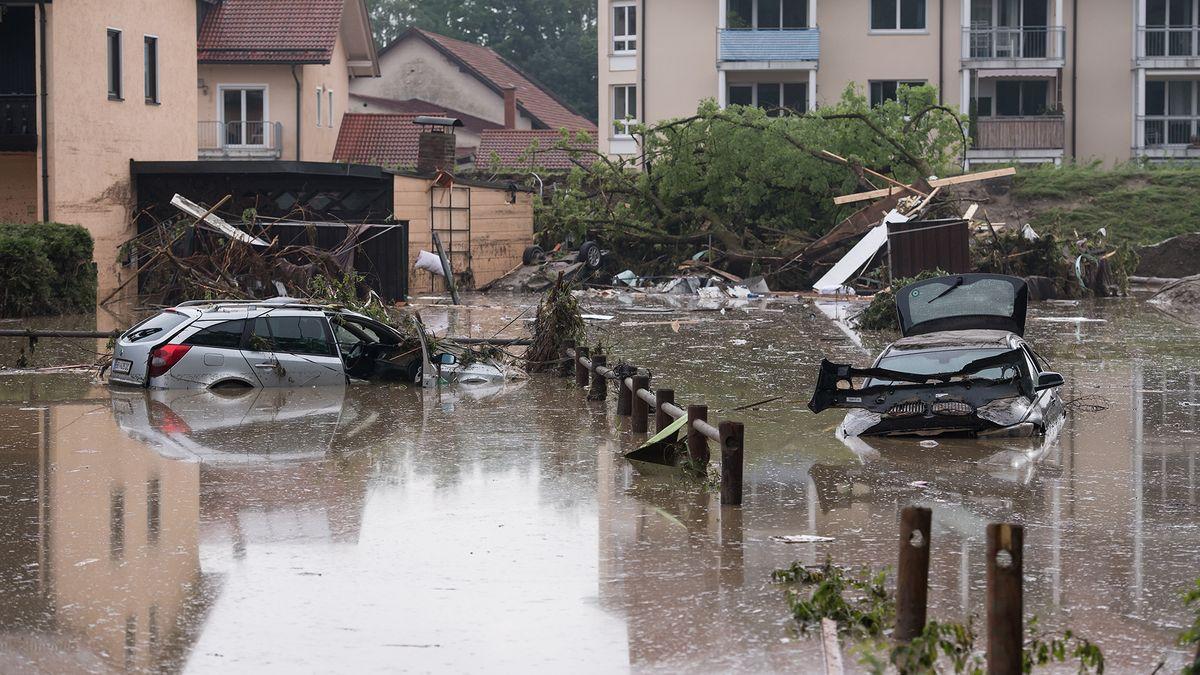 Jahrhundert-Hochwasser im niederbayerischen Simbach am Inn