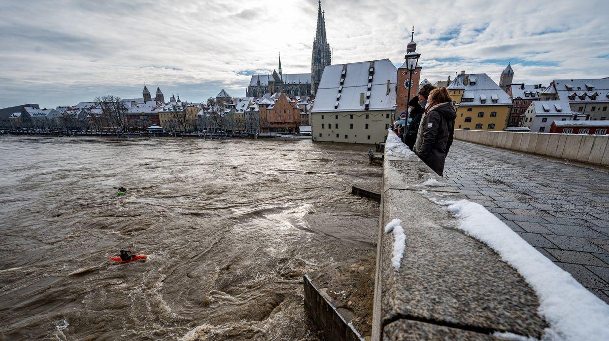 Hochwasser in Regensburg, 31.01.21