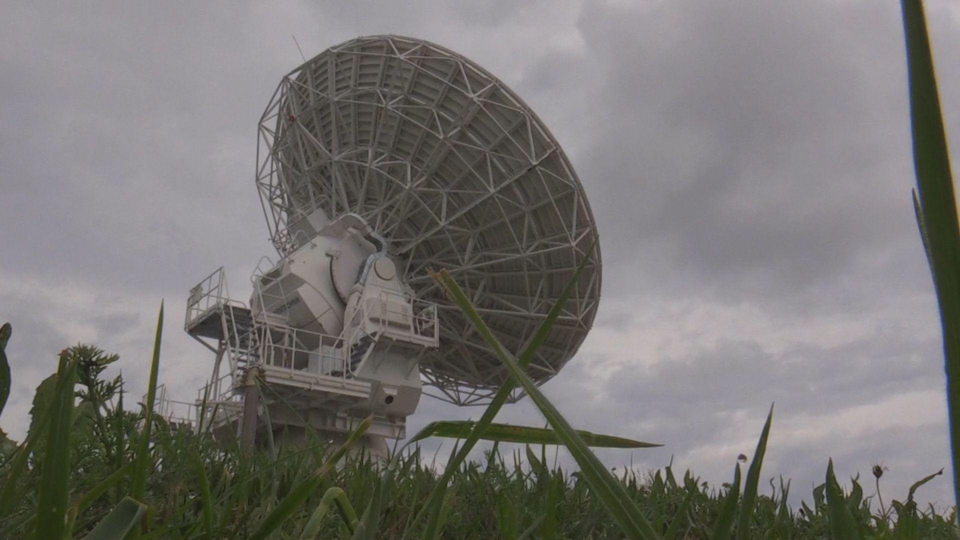 Das Geodätische Observatorium Wettzell (GOW) im Landkreis Cham.