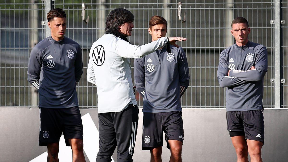 Training der Fußball-Nationalmannschaft mit Bundestrainer Joachim Löw