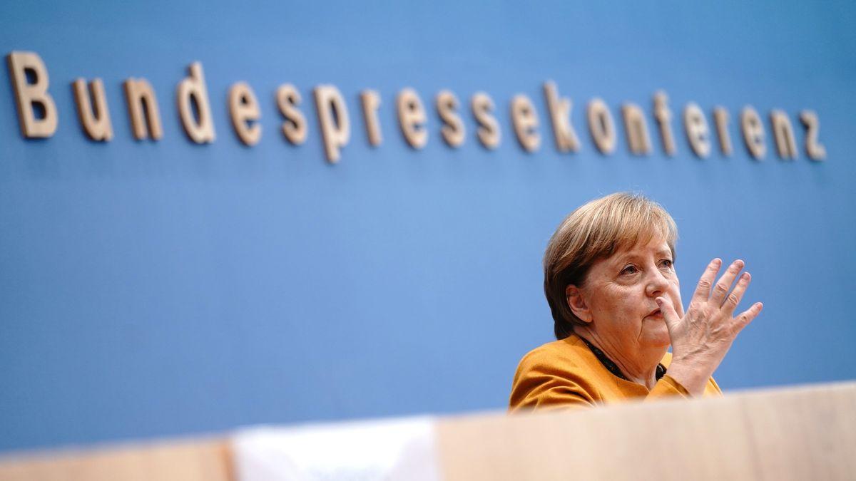 Bundeskanzlerin Angela Merkel bei der Bundespressekonferenz am 2.11.20