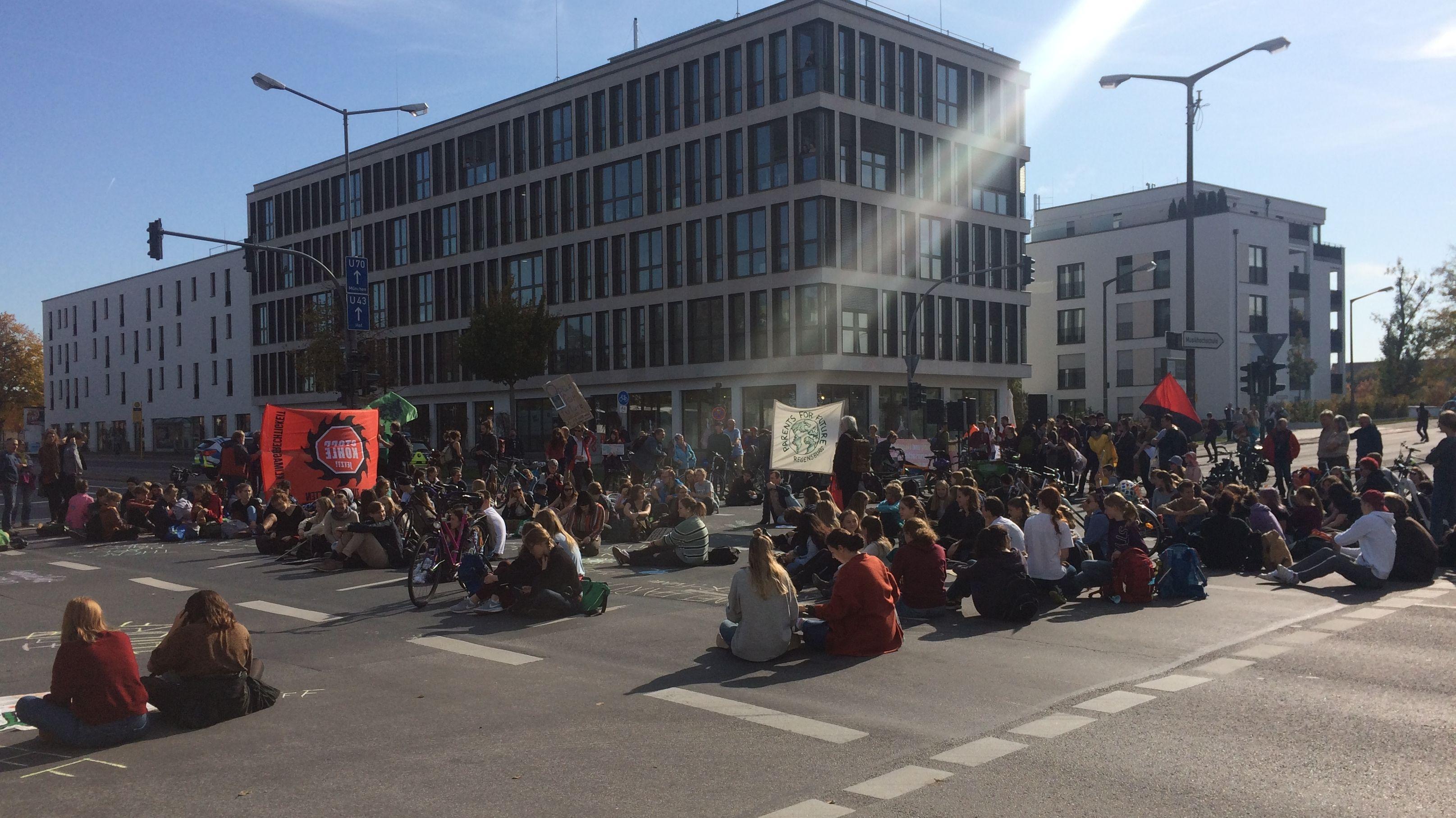Demonstranten legten den verkehr lahm