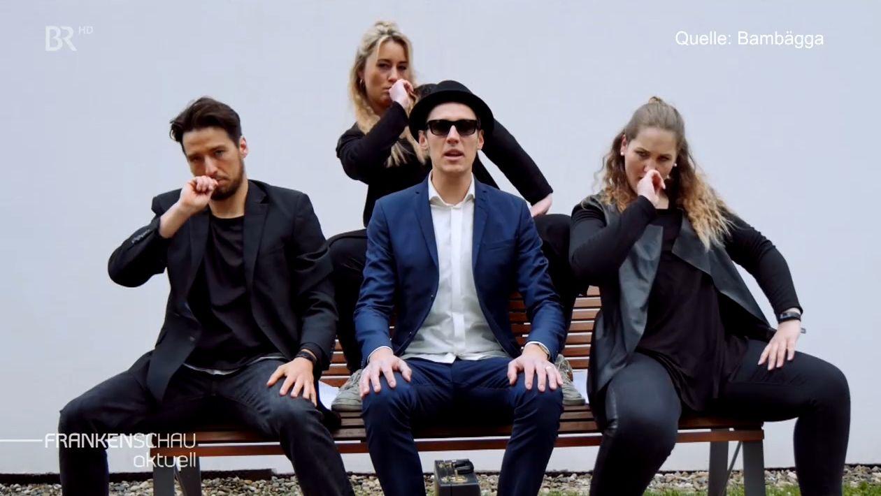 """Die vier Mitglieder der Hip-Hop-Combo """"Bambägga""""."""