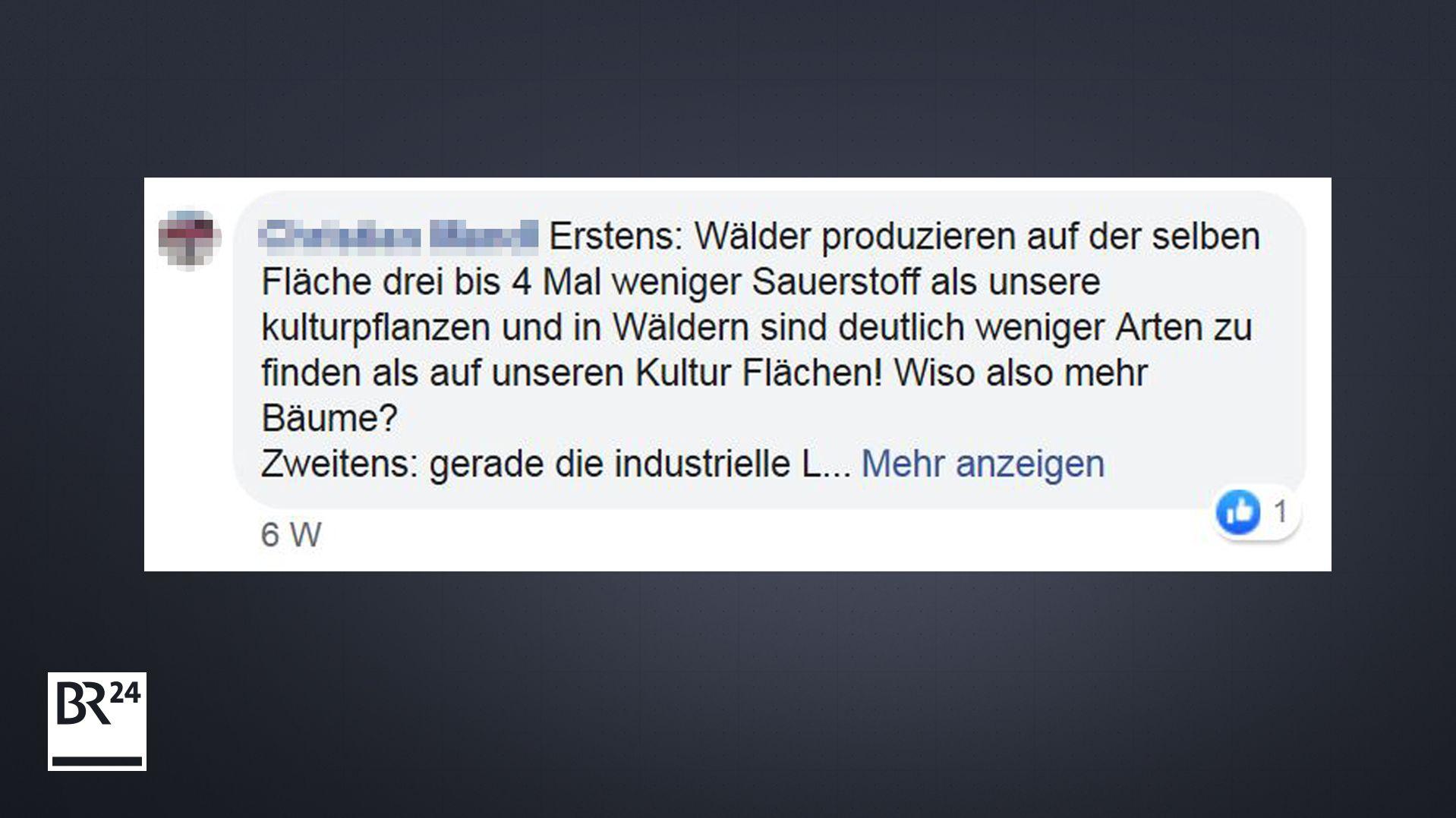Kommentar auf BR24-Facebook