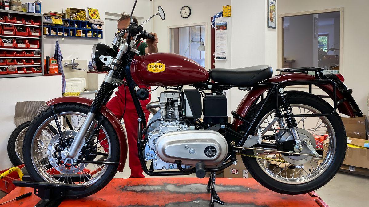 Das Dieselmotorrad der Motorradmanufaktur Sommer