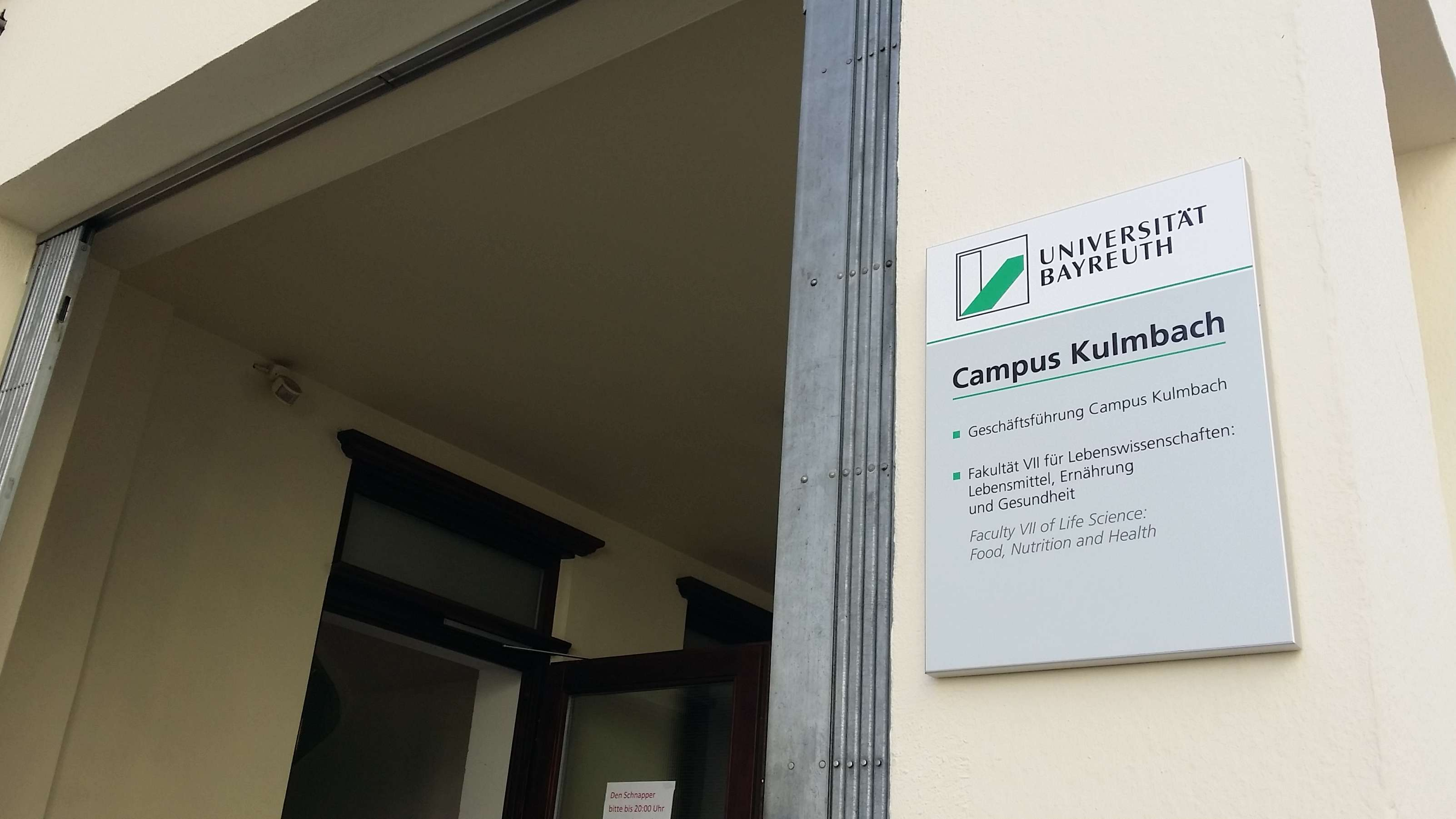 Campus Kulmbach der Uni Bayreuth