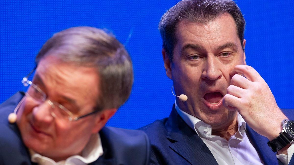Laschet und Söder streiten darüber, wer für die Union als Kanzlerkandidat ins Rennen geht.