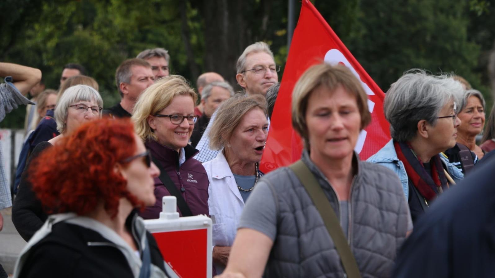 Natascha Kohnen beim Wahlkampf