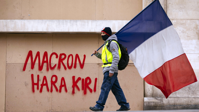 Gelbwestenprotest in Frankreich