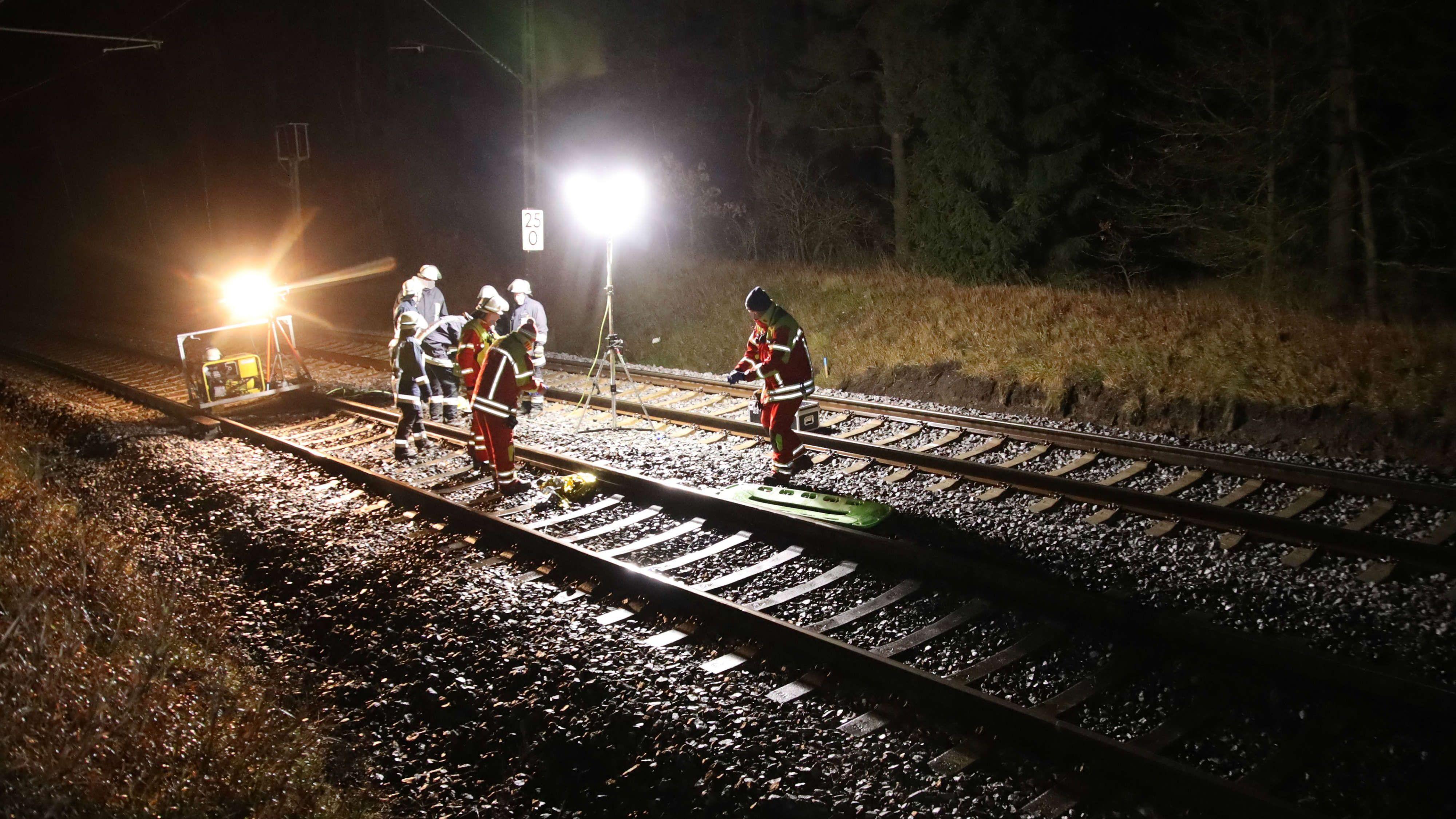 Die Unfallstelle an der Bahnstrecke Regensburg-Nürnberg