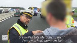 Polizist knöpft sich Gaffer nach tödlichem Unfall vor   Bild:BR