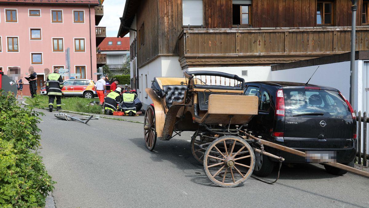 Unfall mit Pferdekutsche in Murnau