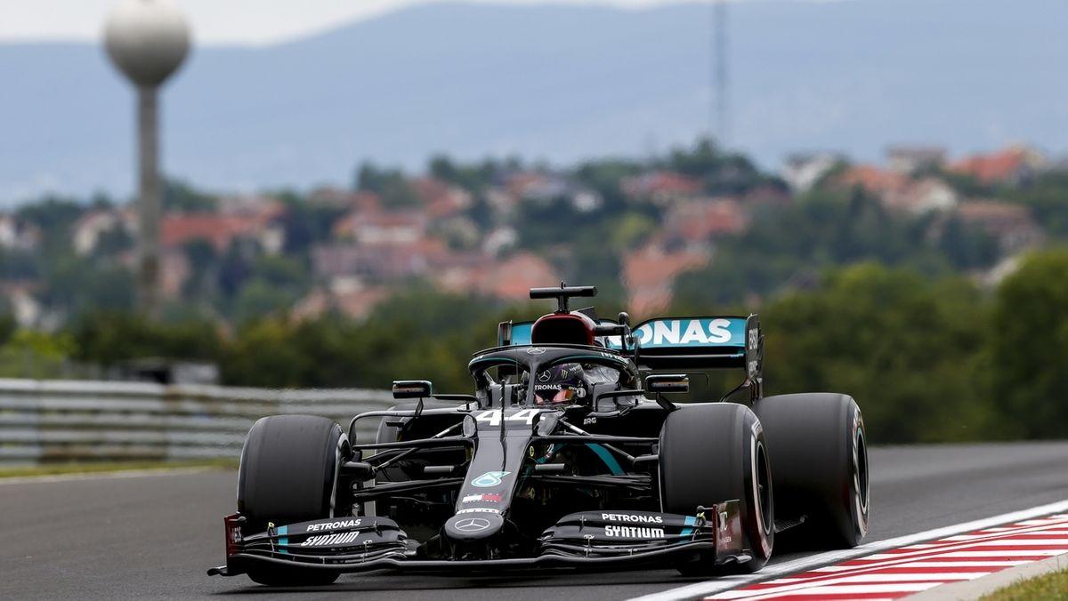 Lewis Hamilton auf dem Kurs in Budapest