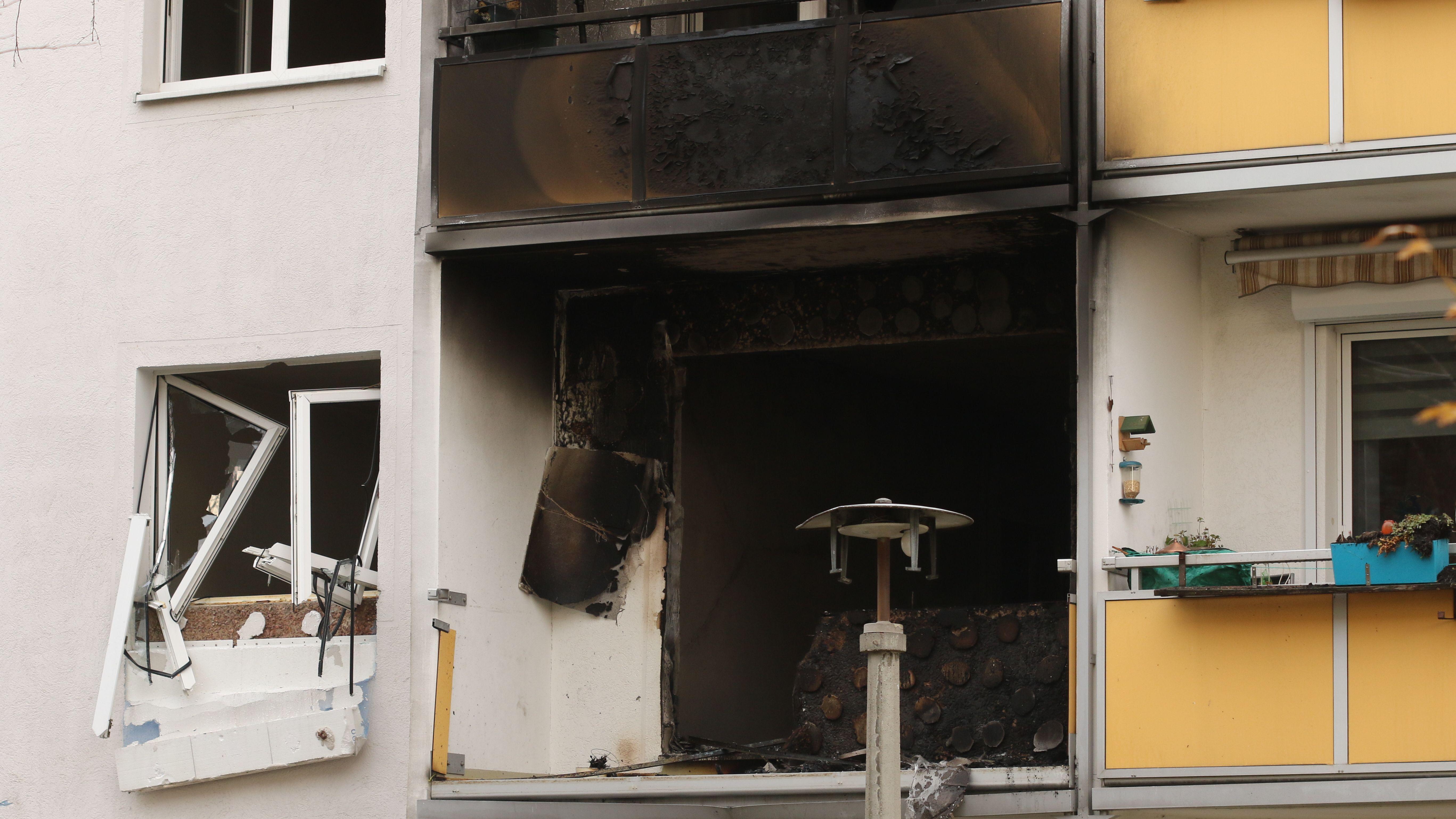 Das zerstörte Haus in Blankenburg.