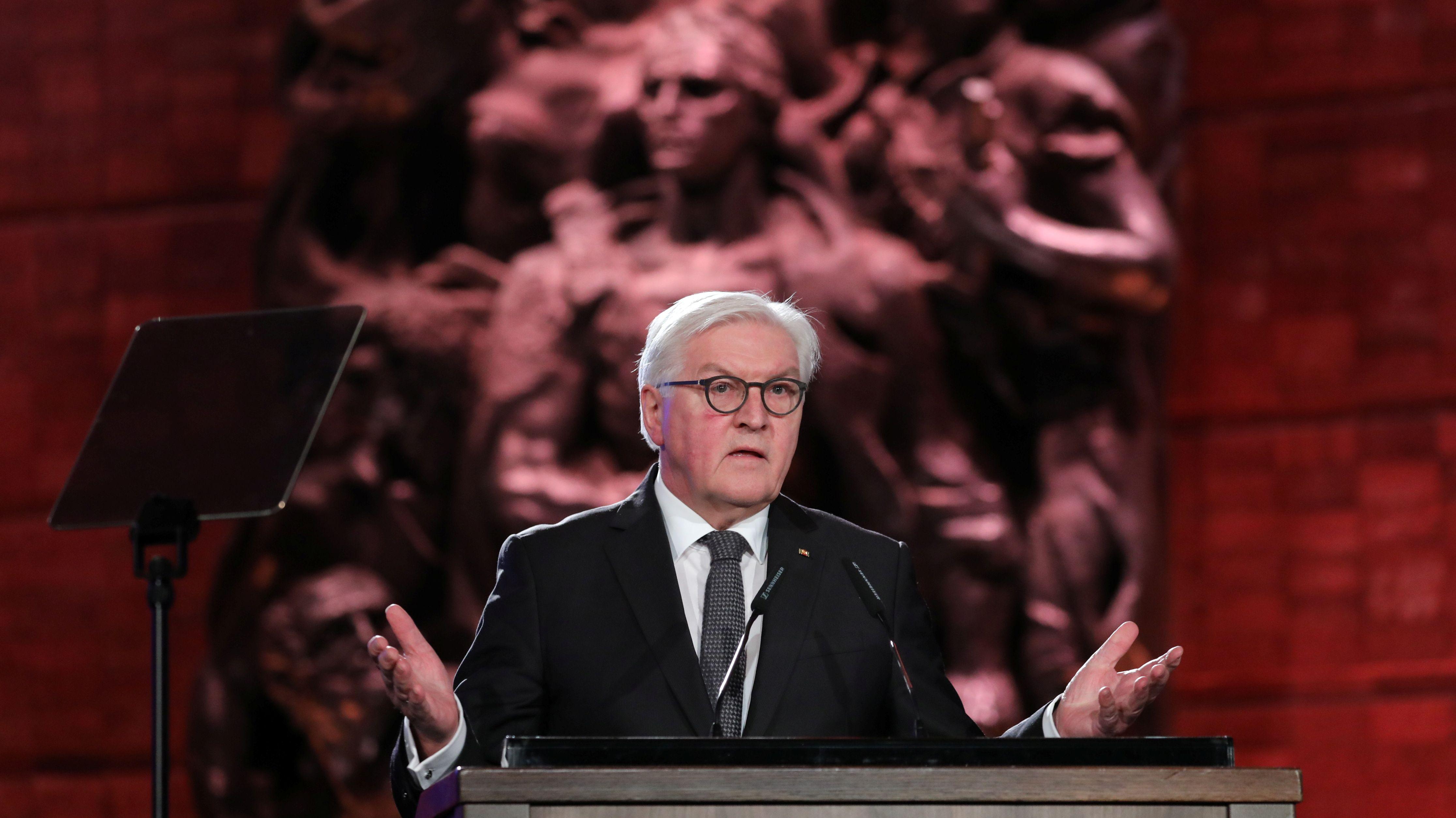 Frank-Walter Steinmeier bei seiner Rede