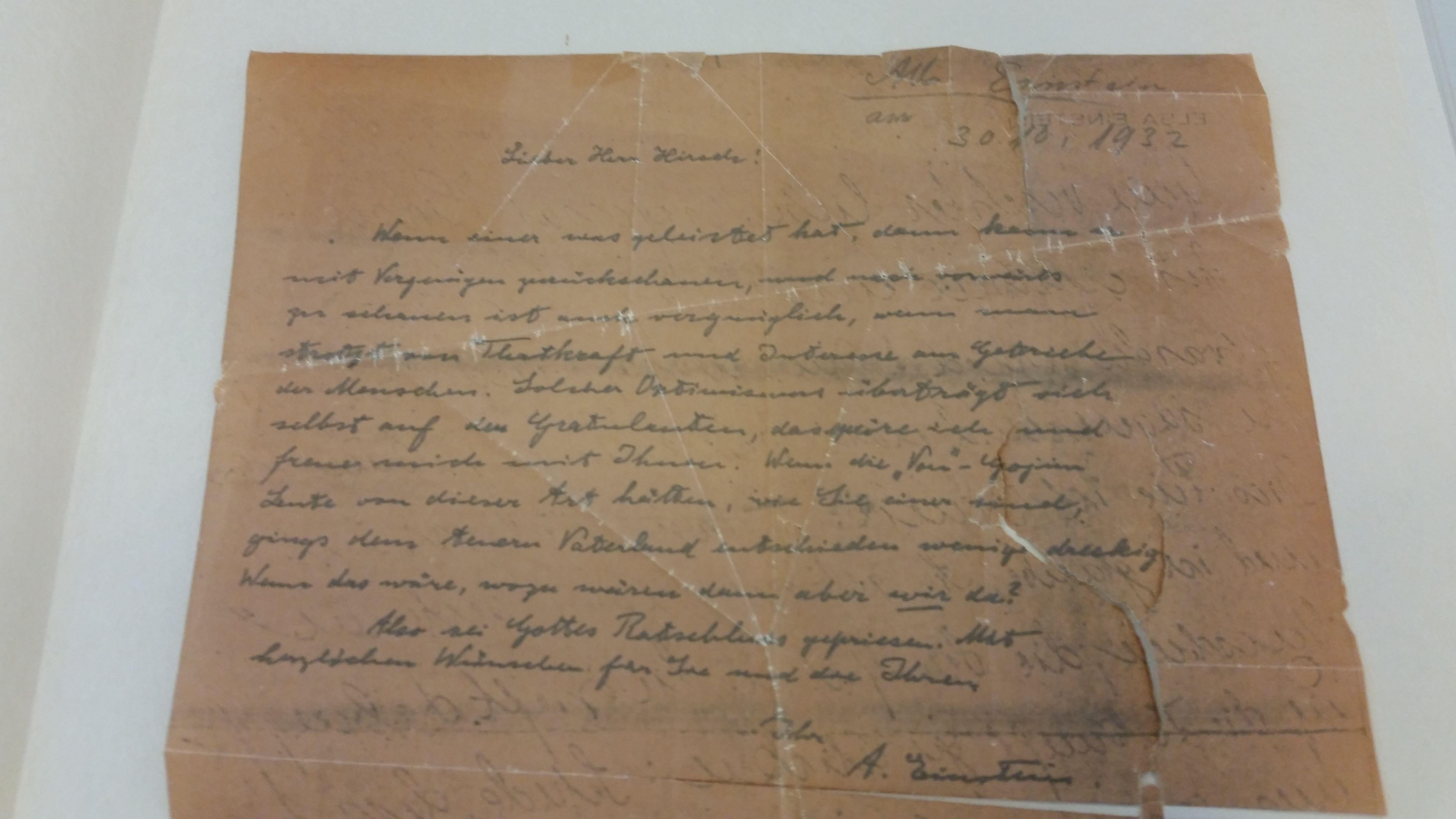 Die Fotokopie des Briefes.