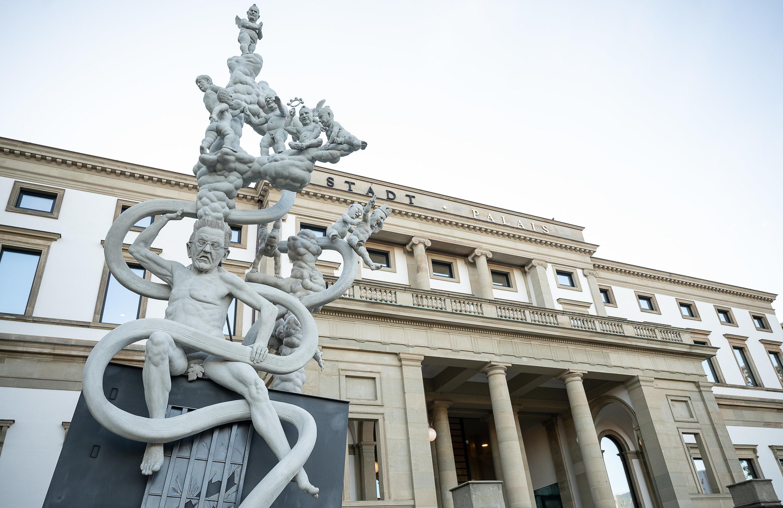 Protest als Kunstfigur: Skulptur zu S21 wird aufgestellt