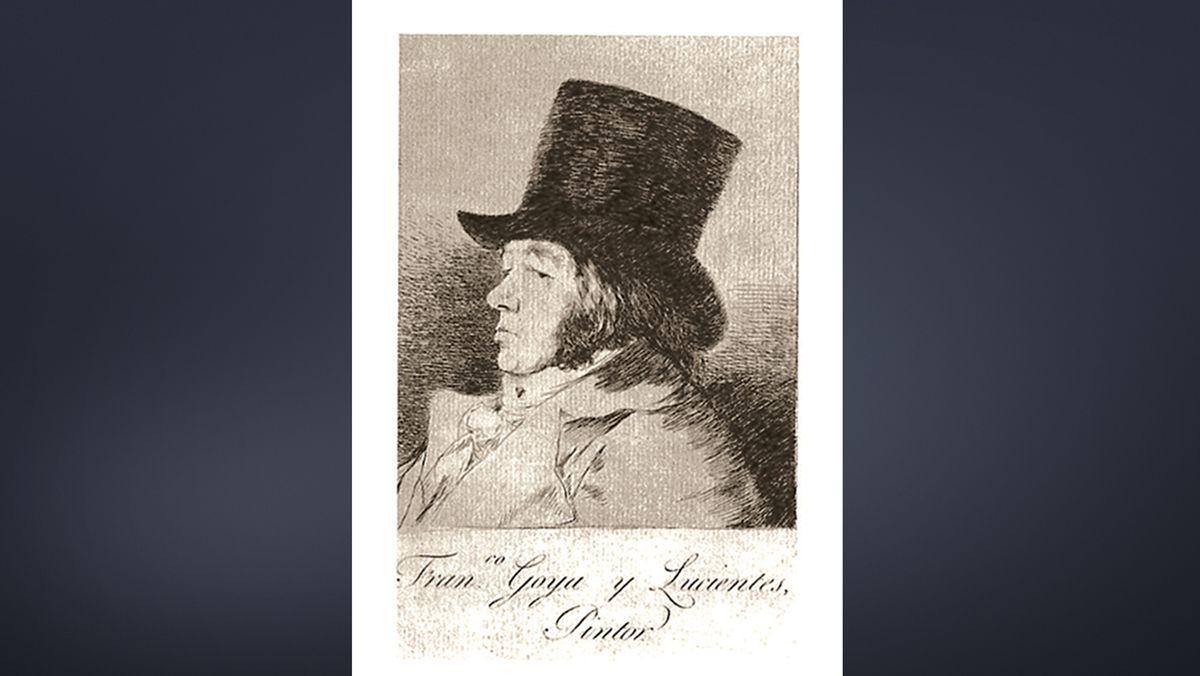 Goya, Selbstporträt aus der Serie !Los Caprichos!
