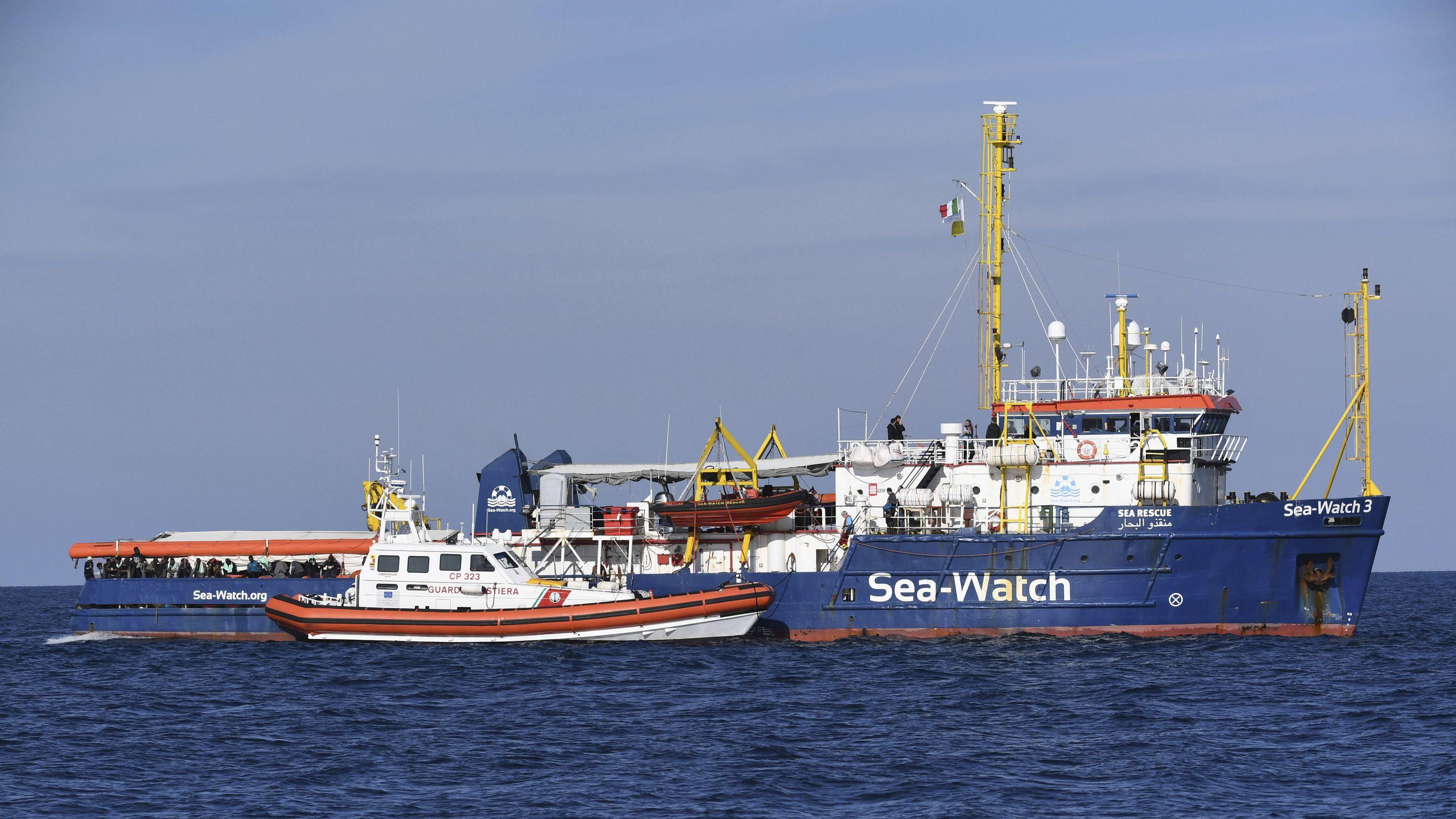 Die Sea-Watch 3 im Mittelmeer.