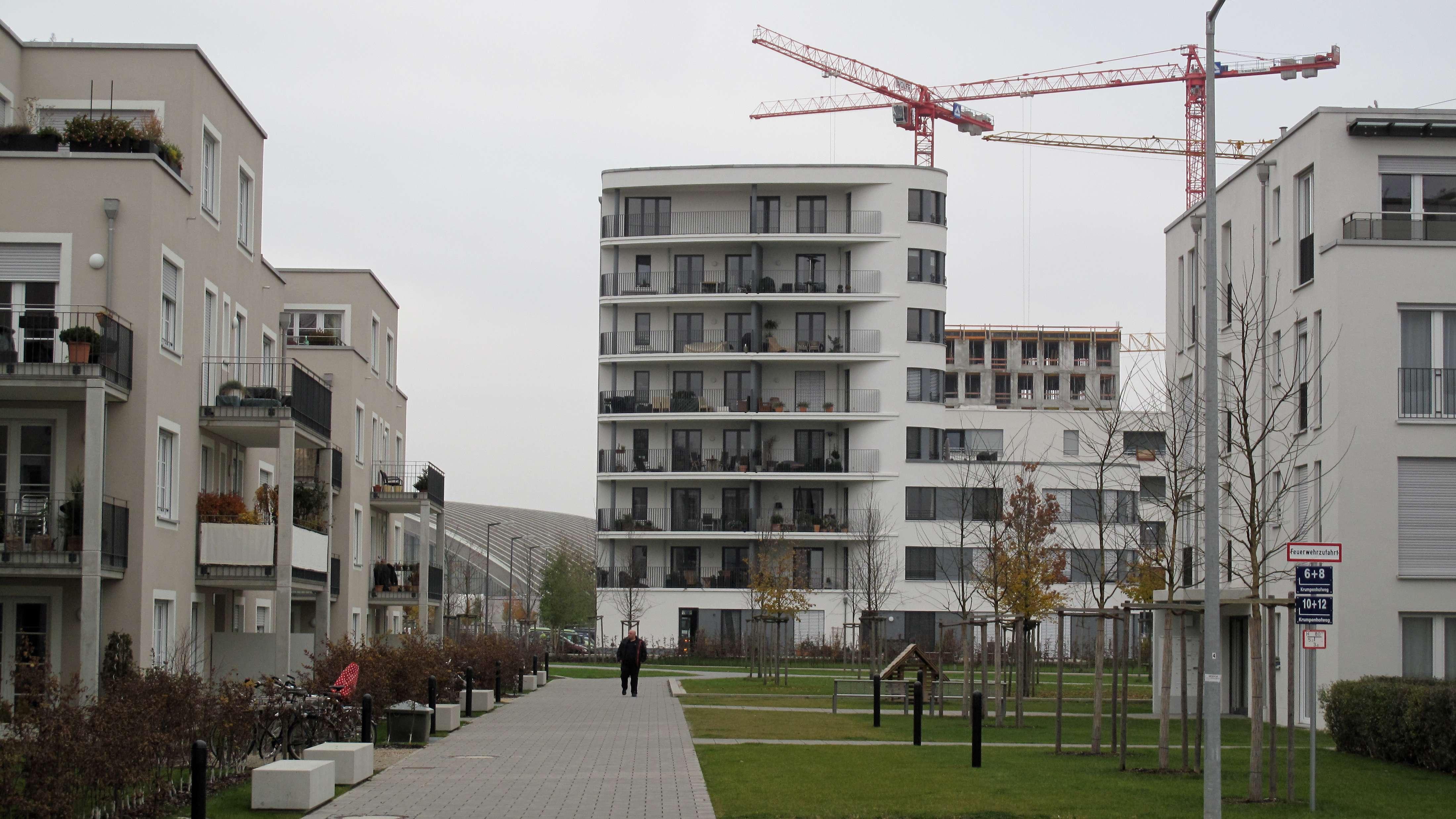 Neubausiedlung in München
