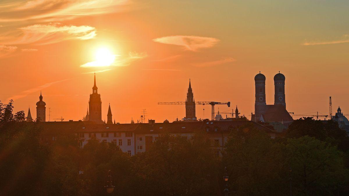München im Sonnenuntergang (Symbolbild).