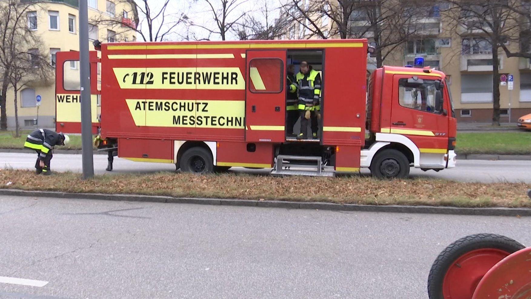 Feuerwehreinsatz am Mittleren Ring
